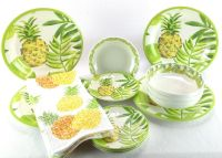 Outdoor Collection Plates Pineapple Tropical MELAMINE