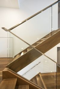 Modern Stair Railings Interior. Oak U Stainless Steel ...