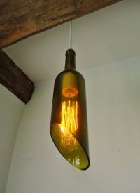 Our newest design: wine bottle hanging lamp with Edison ...