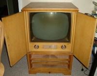 Rare 1950's Emerson Blond Wood Cabinet Retro Television ...
