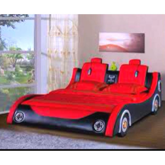 Love The Race Car Shape I Also Like Speakers For Headlights One Of Coolest Beds Have Ever Seen