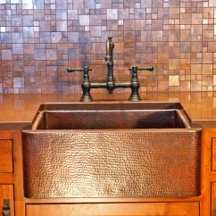 Lowes Copper Kitchen Sink 22 Inch Decor And Tips Farmhouse Bridge Faucet With