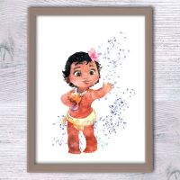 Disney princess Moana poster Baby Moana art print Girls ...