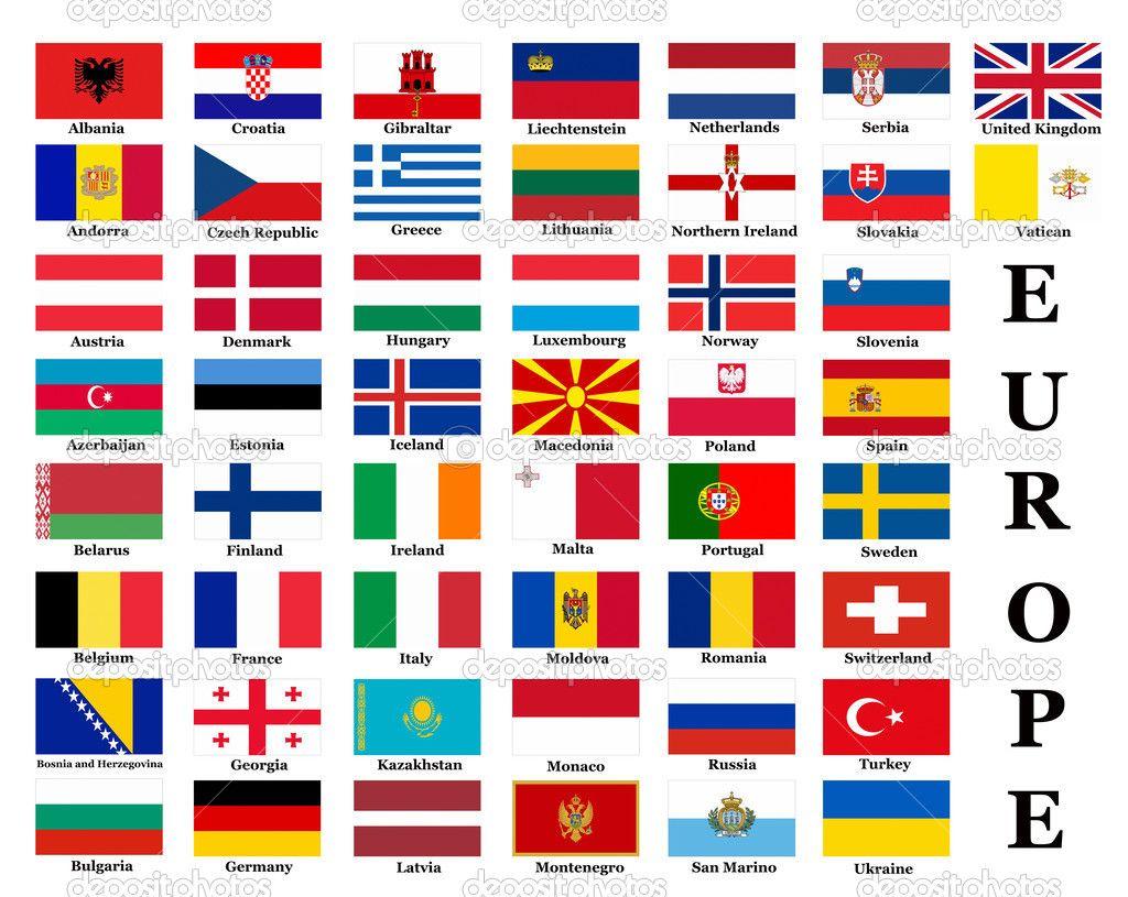 Malvorlagen Flaggen Europa