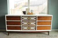 mid century modern furniture painted