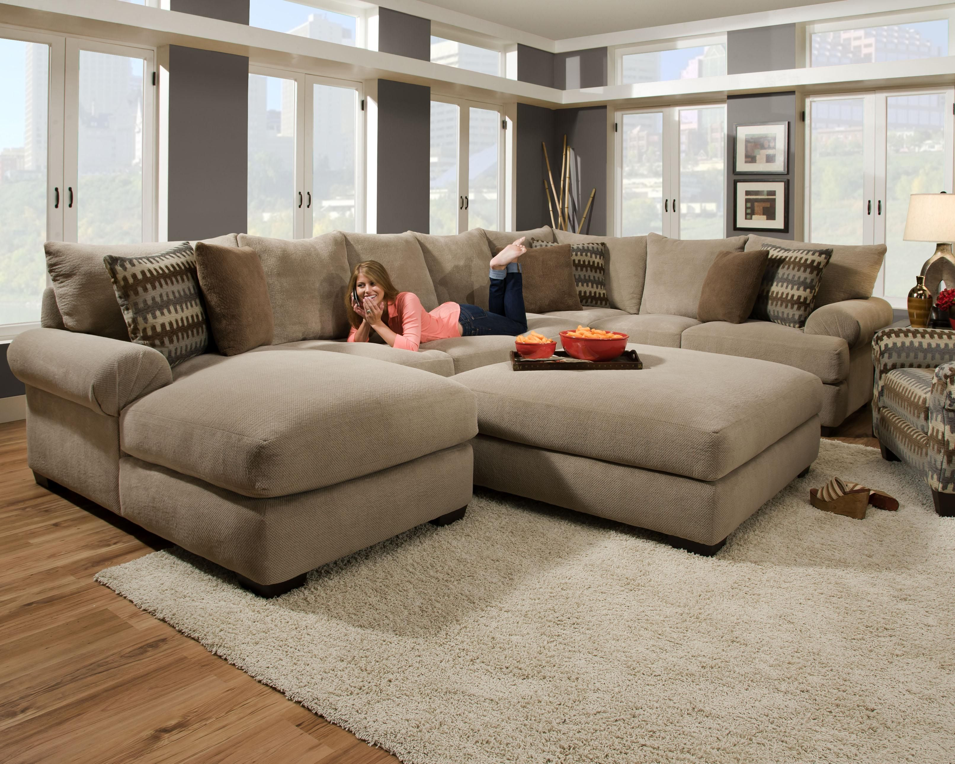 Contemporary Large Sectional Sofas for Living Room
