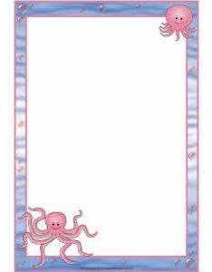 Octopus  page borders sb sparklebox also decorated paper mesaj panolari boards pinterest rh