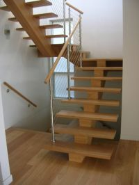 Timber Stairs - Open Treads - Mono String | Stairs ...