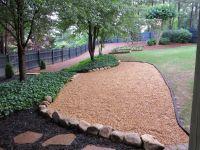 Pea Gravel and stone seating | New pea gravel patio area ...