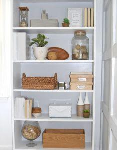 brick home how to style an office bookcase decor also tips bookshelf decorating bricks rh pinterest