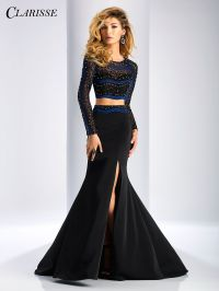 Clarisse Embellished Long Sleeve Two Piece Dress 3208 ...