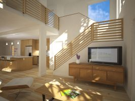 Simple Living Room Under The Stairs Designs Ideas   Casa ...