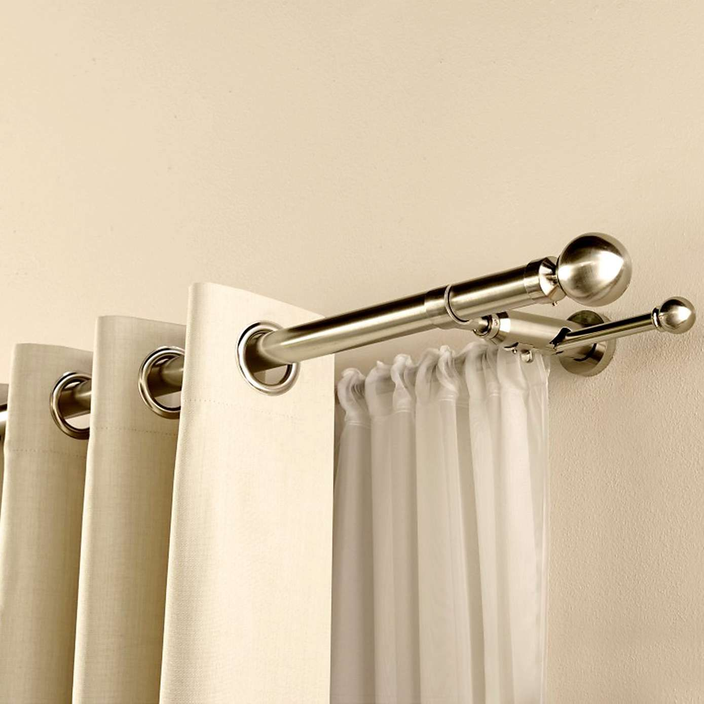 Satin Silver Duo Curtain Pole Dunelm Bedroom Pinterest Curtain Poles Satin And Living Rooms