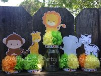 Jungle Safari Jar Centerpiece Decoration by