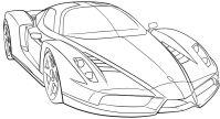 Ferrari Sport Car High Speed Coloring Page - Ferrari car ...