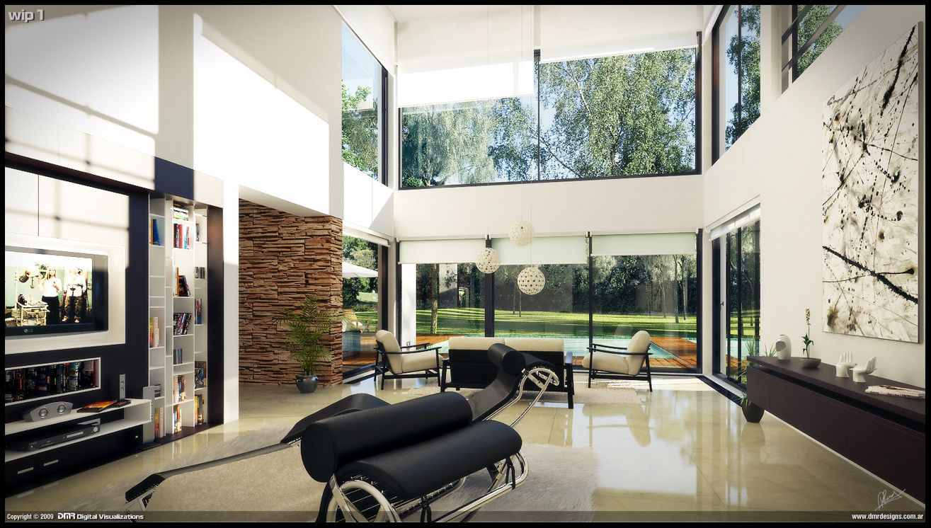 MODERN HOME INTERIORS Modern House Interior Wip 1 By Diegoreales