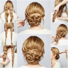 Geflochtene Brautfrisur Selber Machen Hair Pinterest