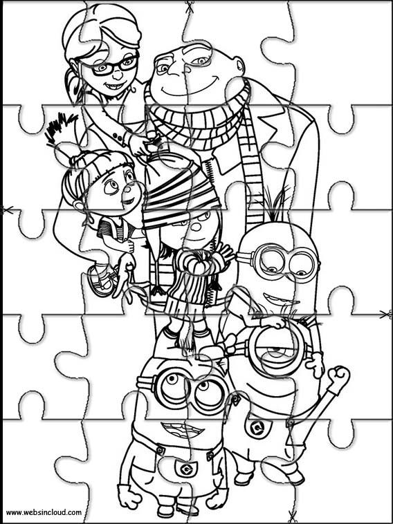 Printable jigsaw puzzles to cut out for kids Minions 5