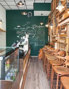 Dana shaked interior design studio have fully modernised this coffee express shop in tel aviv which they generously shared with us also by rh pinterest