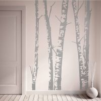 Silver Birch Trees Vinyl Wall Sticker | Vinyl wall ...