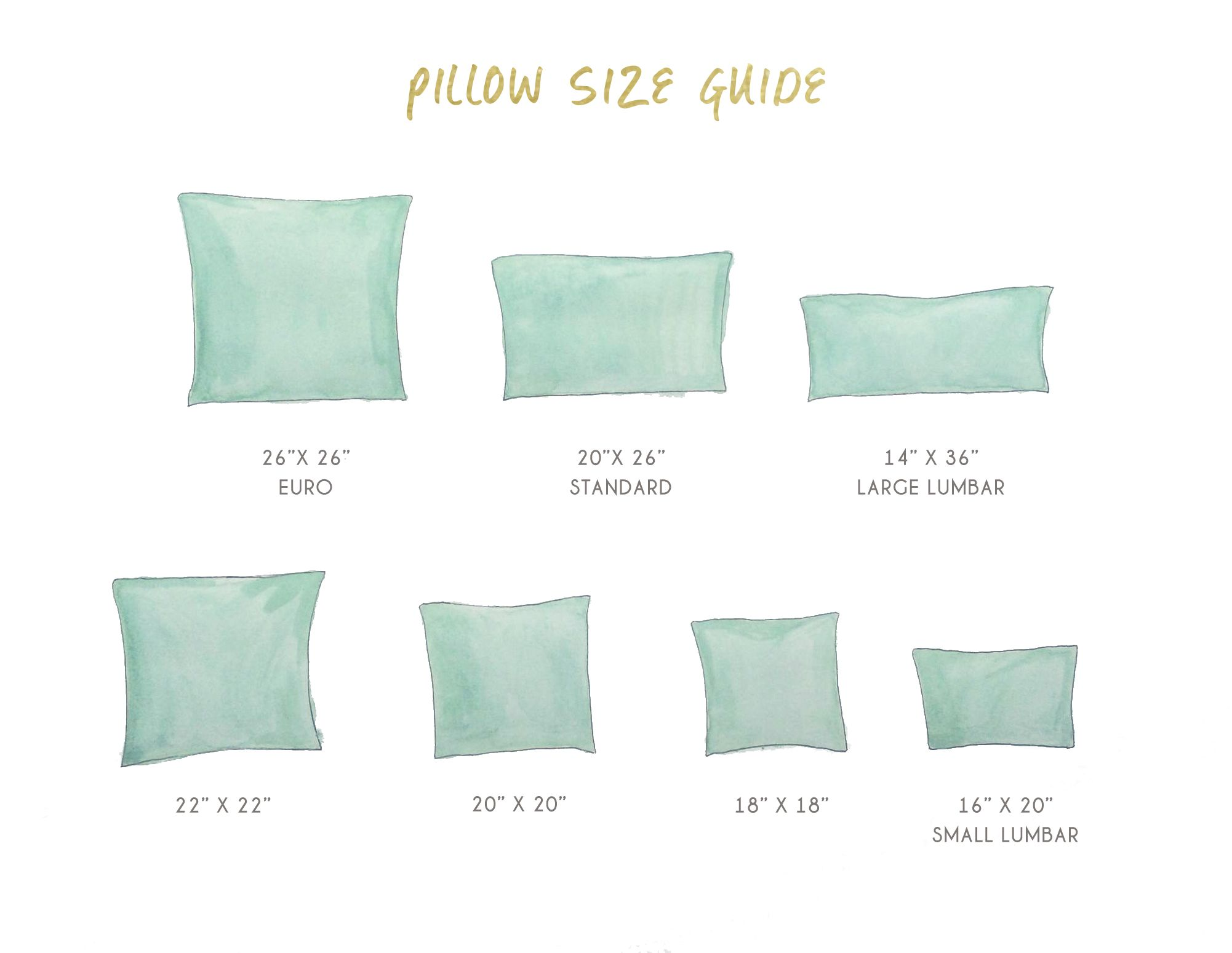 standard sofa cushion size outsunny outdoor sectional furniture set cover pillow sizes pillows 101 how to choose arrange throw