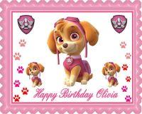PAW PATROL SKYE 2 Edible Birthday Cake Topper OR Cupcake ...