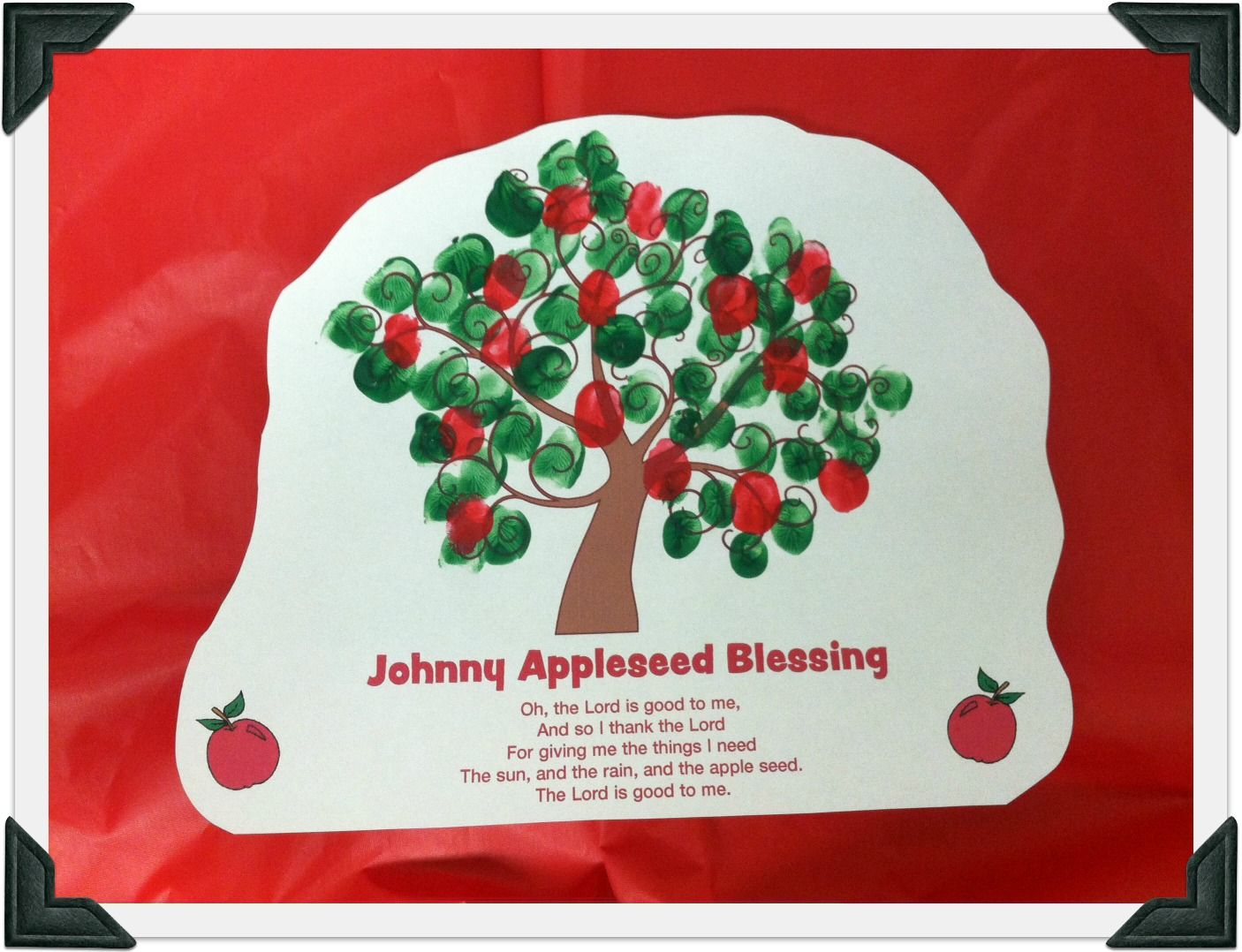 Johnny Appleseed Fingerprint Printable From Guildcraft Arts Amp Crafts