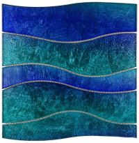 Glass Tile Wave Sparkling Blue Water | Discover more ideas ...