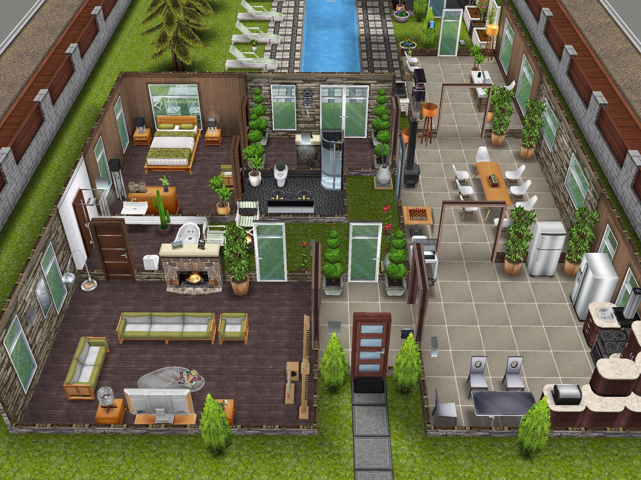 Variation On Scandinavian House #thesims #simsfreeplay Sims