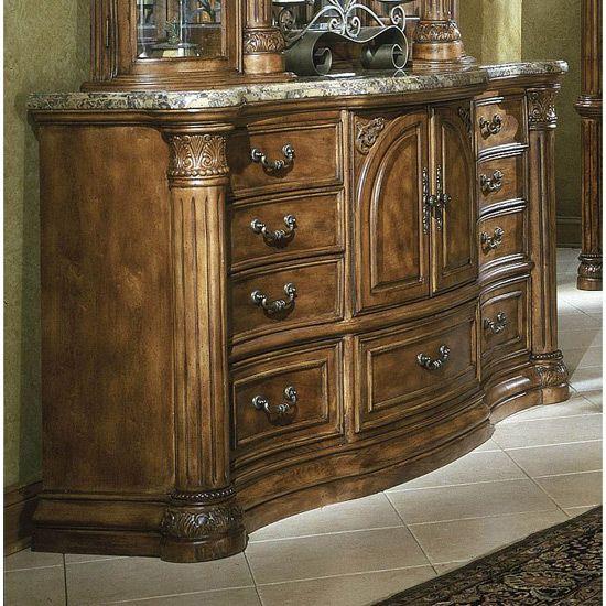 Aico Monte Carlo Bedroom Set (Classic Pecan)