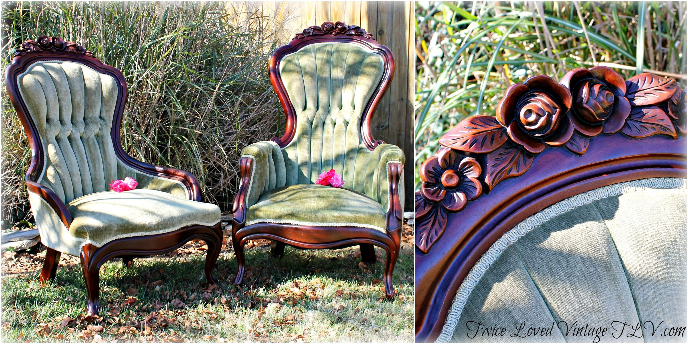 victorian parlor chairs big and tall desk antique lady gentleman 39s walnut