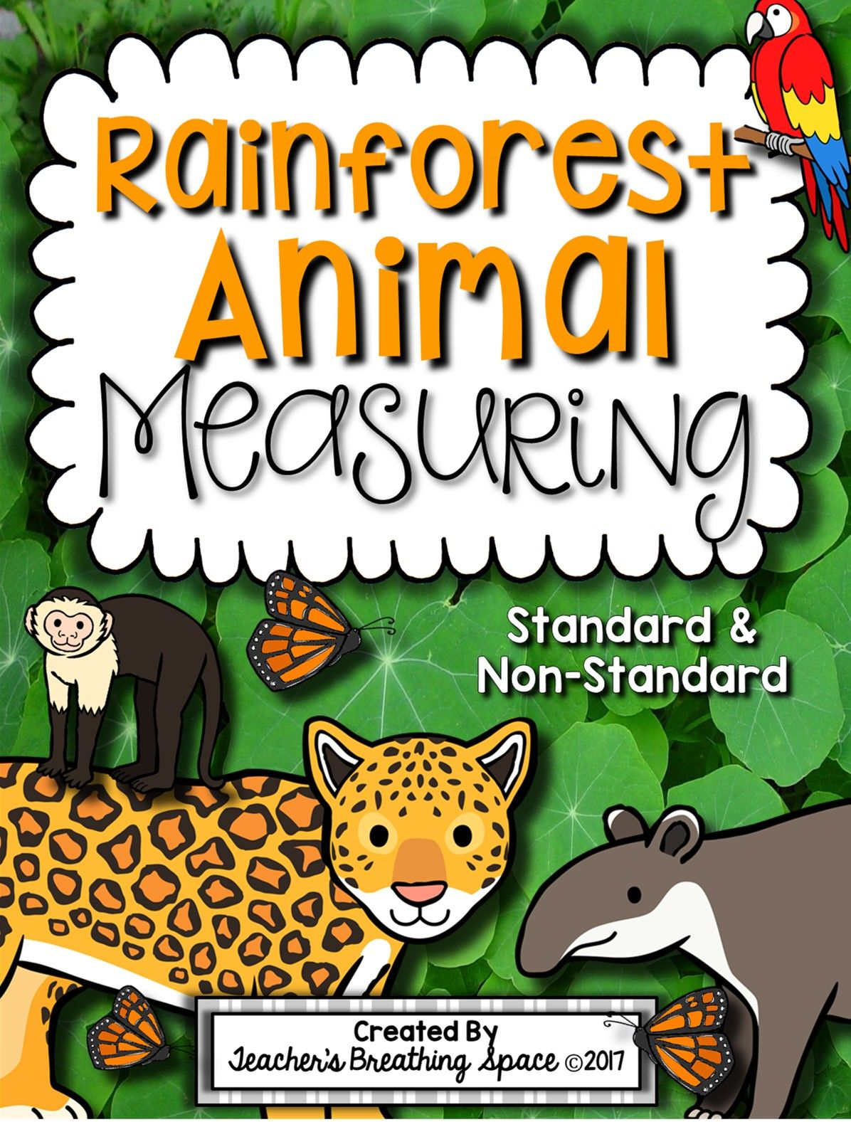 Rainforest Animal Measuring Book And Measurement Math Center