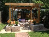 Pit stop. Husband built this pergola with planters and ...