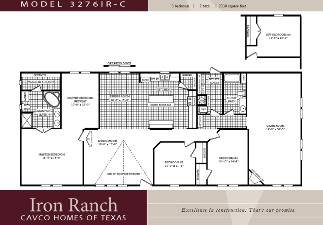 3 Bedroom Ranch Floor Plans Large 2 Bath Double Wide Manufactured Homes