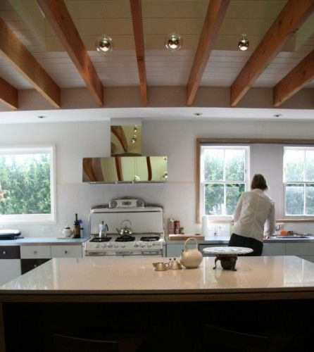 exposed ceiling joists with soffit