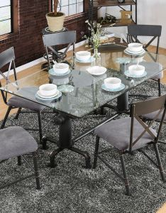 Flaherty  industrial dining table set also products pinterest rh uk