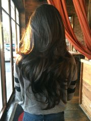long dark chocolate-brown wavy