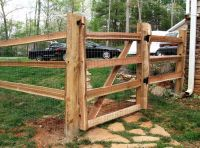4 ft. walk gate in a 3 hole split rail fence