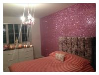 glitter gold painted walls