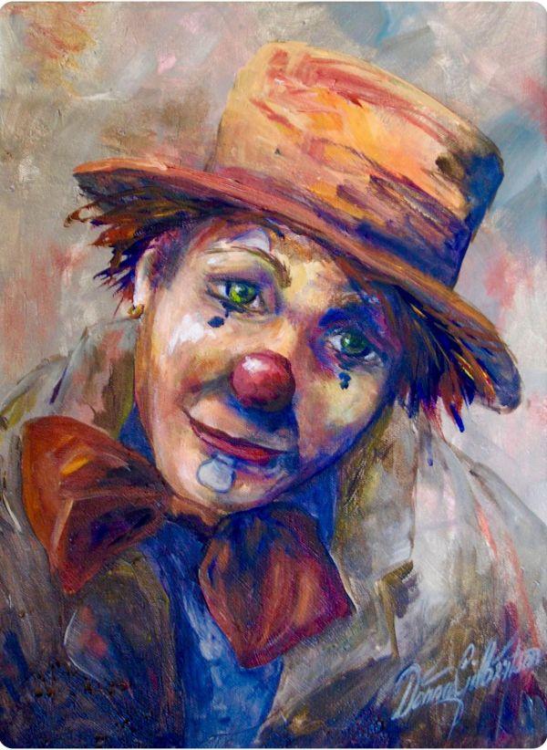 Clown Paintings Ideas Clowns