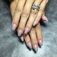 SNS Ombre Nails (pink and grey)  | Pinteres
