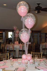 baby shower christening balloon centerpieces flowers ...