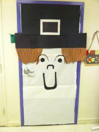 Pilgrim school door decor for thanksgiving.