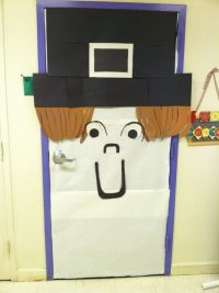 Pilgrim school door decor for thanksgiving. | bulletin ...