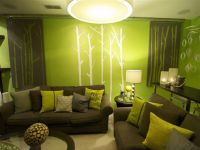 Creative Green Living Room - https://www.rhamaproductions ...