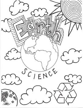 Earth Science cover page or coloring page! I put it in the