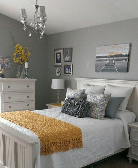 Gray and yellow bedroom also apartment decor ideas pinterest rh