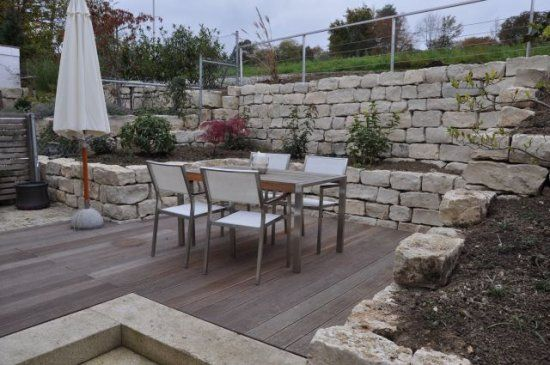 gartengestaltung terrasse hang - boisholz,