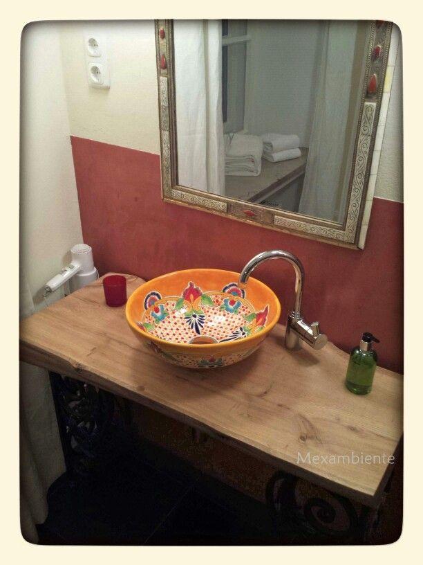 Mexikanische Waschbecken handmade von Mexambiente im Hotel Schloss Blumenthal badezimmer hotel