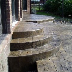 Chair Hammock Stand Diy Electric Was Invented By Half Moon Steps - Google Searchpoured | Patio O Pinterest Patios, Stamped Concrete ...